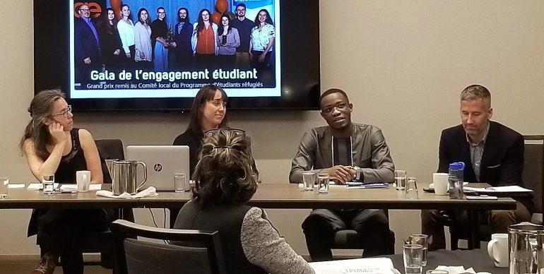 Panel sur le programme d'étudiant réfugié.
