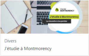 J'étudie à Montmorency sur Moodle