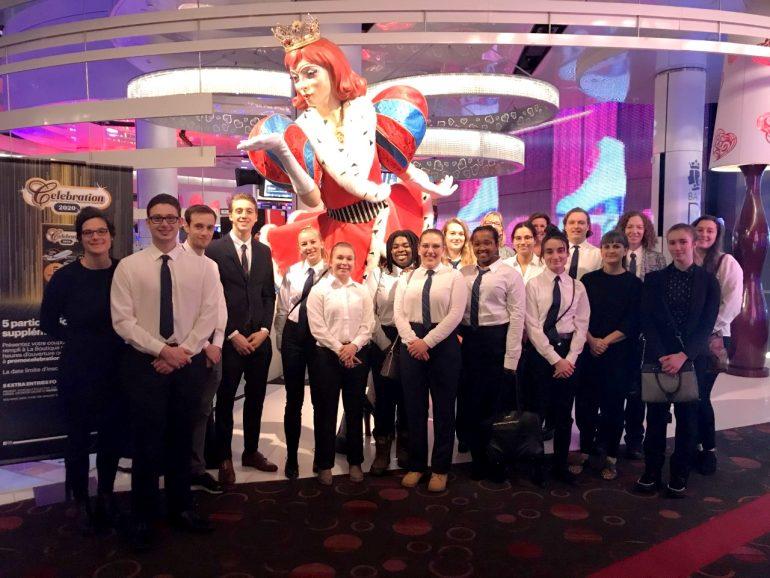 Étudiants en Gestion d'un établissement de restauration en visite au Casino de Montréal